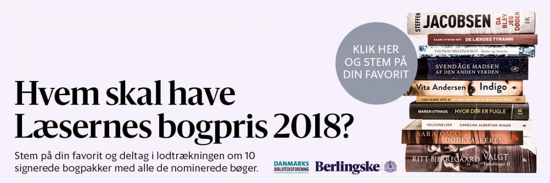 Hvem skal have Læsernes Bogpris 2018