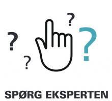 Hånd med spørgsmålstegn. Spørg eksperten